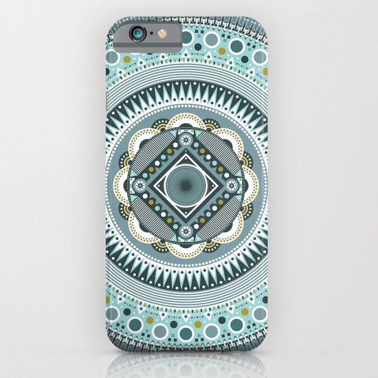 Blue Mandala iPhone & iPod Case