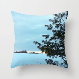 Between Field and Forest Throw Pillow