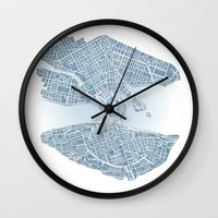 stockholm Wall Clocks featuring Stockholm  by Anna Eggertz