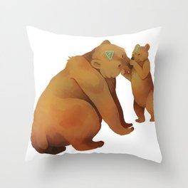 Kodiak Bears Throw Pillow