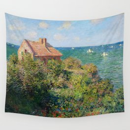 Fisherman's Cottage on the Cliffs at Varengeville Claude Monet Wall Tapestry