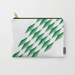 Green Diamonds by FreddiJr Carry-All Pouch