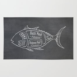 Tuna Butcher Diagram (Seafood Meat Chart) Rug