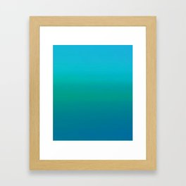 Ombre, Blue to Teal Framed Art Print