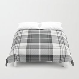 Black & White Tartan Duvet Cover