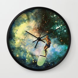 Cosmic Surfer Wall Clock
