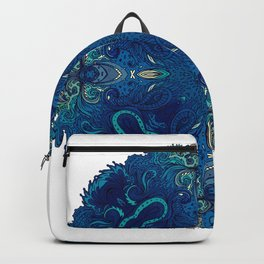 Blue Cobalt Indian Mandala Backpack