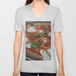 Pizza Margherita with San Marzano tomatoes food photography Unisex V-Neck
