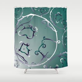 Deep sea cells Shower Curtain
