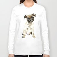 dorothy Long Sleeve T-shirts featuring Dorothy the Pug  by Bridget Davidson