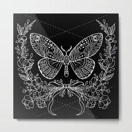 Moth Floral Metal Print