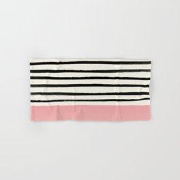 Blush x Stripes Hand & Bath Towel