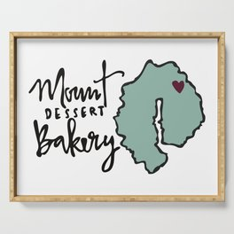 Mount Dessert Bakery Logo Serving Tray