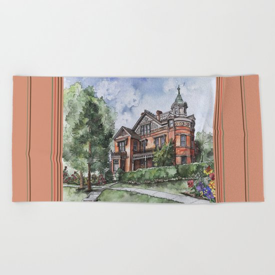 Armstrong Mansion Beach Towel