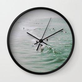 lets surf iv / venice beach, california Wall Clock
