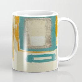 Soft And Bold Rothko Inspired - Modern Art - Teal Blue Orange Beige Coffee Mug