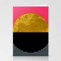 georgiana paraschiv Stationery Cards featuring Abstract Sunset by Georgiana Paraschiv