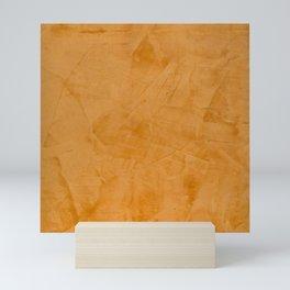 Dante Orange Stucco - Luxury - Rustic - Faux Finishes - Corbin Henry Venetian Plaster Mini Art Print