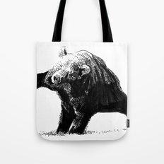 The Big Bad Bear by Chuchuligoff Tote Bag