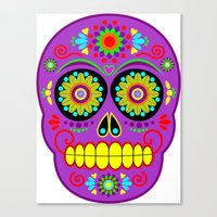 calavera Canvas Prints featuring Calavera by Abearcub
