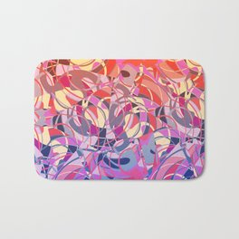 Summer Sunset Abstract - Purples and Reds Bath Mat
