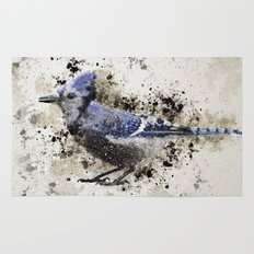 BlueJay Splatter Rug
