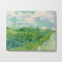 Green Wheat Fields, Auvers, 1890, Vincent van Gogh Metal Print