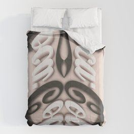 Symmetry: Mustaches & Eyebrows Comforters