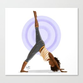 Three-Legged Downward Dog Pose Canvas Print