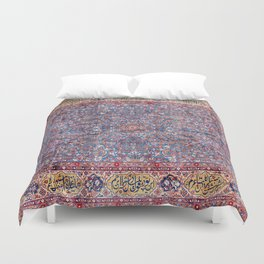 Kashan Central Persian Rug Print Duvet Cover