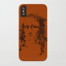 Modern Lisa (orange) iPhone Case
