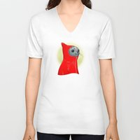 seal V-neck T-shirts featuring Hooded Seal by Mirco