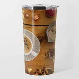 Christmas decoration on wood Travel Mug