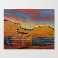 violin Canvas Prints featuring Violin by Michael Creese