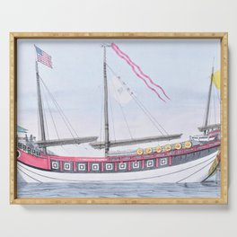 Nathaniel Currier - The Chinese Junk 'Keying' - Digital Remastered Edition Serving Tray