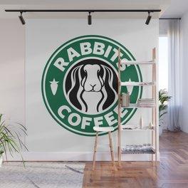 RABBITS COFFEE Wall Mural
