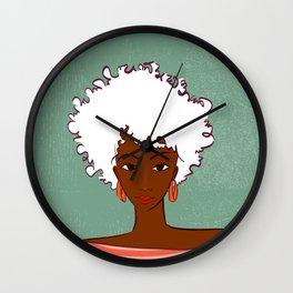 Beautiful woman Wall Clock