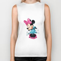 minnie mouse Biker Tanks featuring Minnie Mouse Cartoon by Maxvision