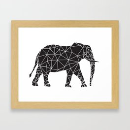 Elephant Angles (Help Save Endangered Elephants) Framed Art Print