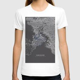 Vancouver city map T-shirt