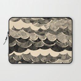 Abstract Beige Sea Waves Design Laptop Sleeve
