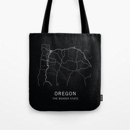 Oregon State Road Map Tote Bag