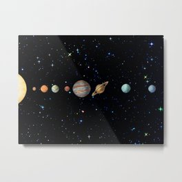 Planetary Space Photo Edit Metal Print