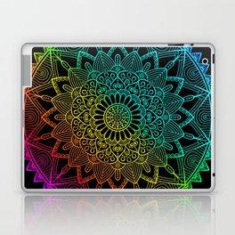 Black Rainbow Mandala Doodle Laptop & iPad Skin