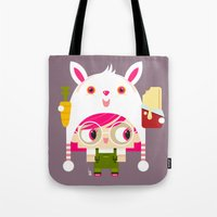 doll Tote Bags featuring Doll by Geek