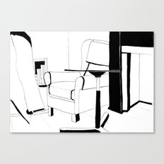 Black and white interior Canvas Print