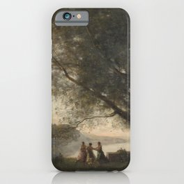 Jean-Baptiste-Camille Corot - Dance under the Trees at the Edge of the Lake iPhone Case