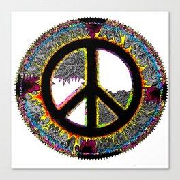 Frankie's Peace Sign Canvas Print