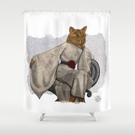 La Grande Dame, Couture Kitty Shower Curtain