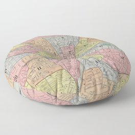 Vintage Map of Rochester NY (1901) Floor Pillow